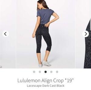 "Lululemon Align Crop 19"""